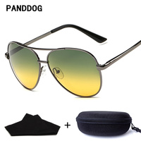 PANDDOG alloy retro anti dazzling glasses day and night vision goggles driver with glasses box and cloth LHJF8808