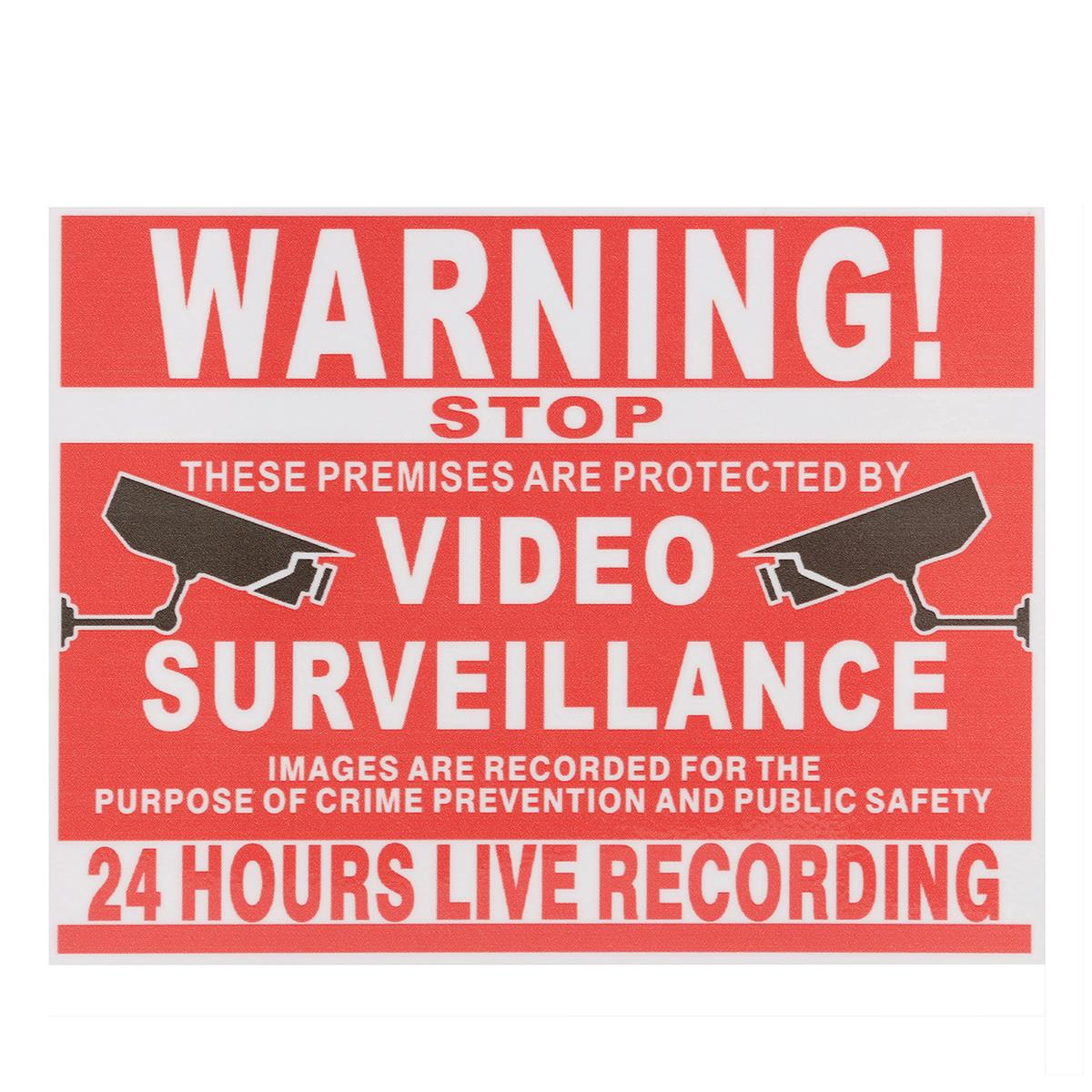 NEW Premises Projected By Video Surveillance CCTV Recording Sign Safety Sticker Warning