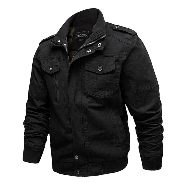 New Military Men's Jacket 6XL Autumn Fashion Male Slim Fat Cotton Casual Bomber Jacket Men brand Clohing Outwear Coat AF2701