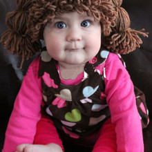 Brown Wig Hat Photo Prop Photography Prop, Cabbage Patch, Po