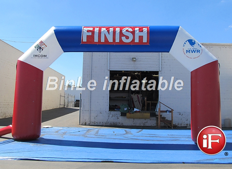 Simplest square inflatable finish line arch gate with logo printing for marathonSimplest square inflatable finish line arch gate with logo printing for marathon