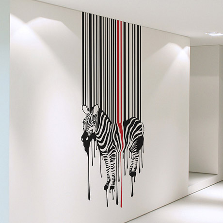 African Animal Zebra Vinyl Wall Decal Creative Zebra Design Mural Art Wall Sticker Bar Living Room Bedroom Home Decoration