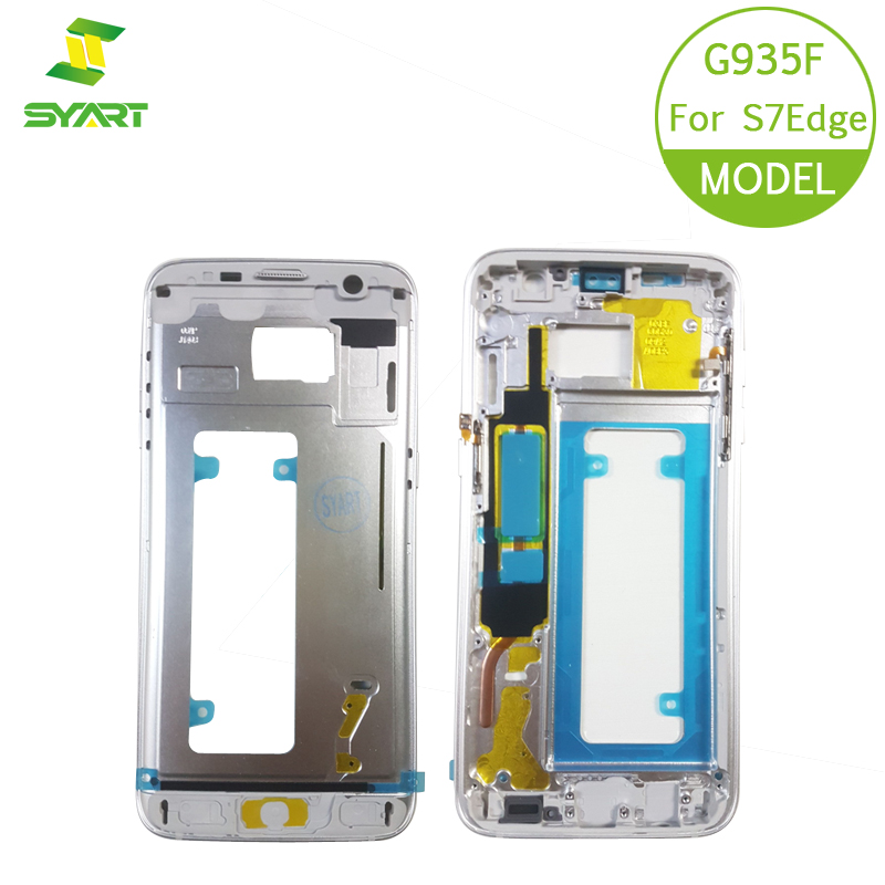 For Samsung Galaxy S7 G930 Mid Bezel Metal Frame Housing Chassis With Side Key Replacement Parts Middle Frame For S7 Edge G935 image