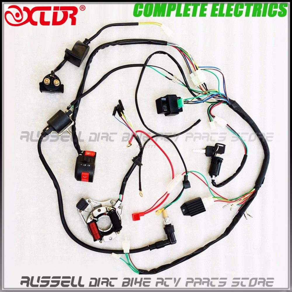 110cc atv parts full electrics wiring harness cdi coil 110cc quad bike buggy gokart parts accerssories [ 1000 x 1000 Pixel ]