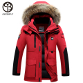 2016 Brand Down Jacket Men Winter White Duck Down Coat Military Hooded Coat Natural Raccoon Thick Warm High Quality Men Parkas