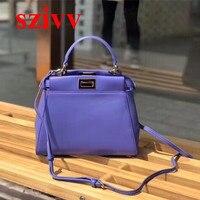 100% натуральная телячья кожа Премиум Сумки сумки дизайнер Crossbody сумки для Для женщин известный бренд ВПП полный ручной работы 091802