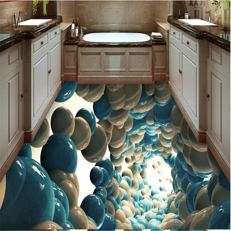 beibehang Custom floor affixed room Lotte bathroom 3D abstract fantasy wallpaper wallpaper 3D floor wall floor high-definition w запонки lotte