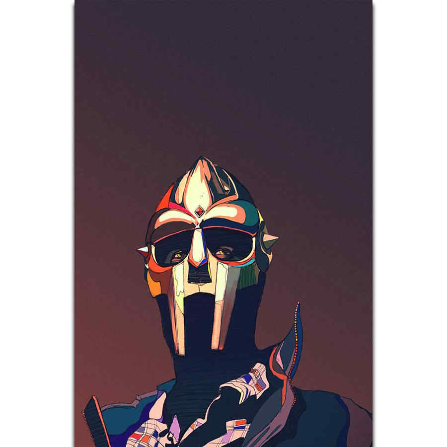 S1996 MF Doom Hip Hop Musica Rap Rapper Cantante Star Wall Art Pittura Stampa Su Seta Su Tela Poster Decorazione Della Casa