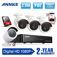 SANNCE HD 960P POE 4PCS 1 3MP IP Network CCTV Home Security Camera System 4CH HDMI