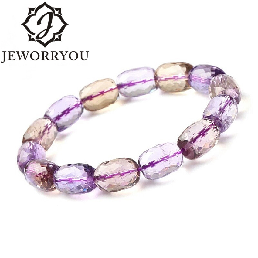 6*9mm Amethyst Beads Bracelets & Bangles Ametrine Natural Crystals Woman Bracelet Charms Bracciali Mother Gift