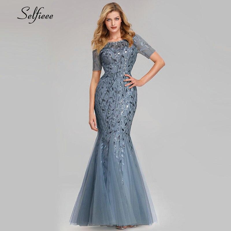 Robe Vintage d'été robes décontracté nouvelle sirène O cou à manches courtes paillettes robes de soirée élégantes femmes Robe grande taille 2019