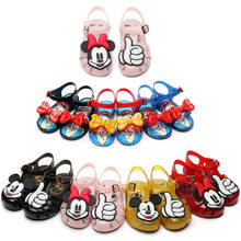 Baby Shoes Summer New Grils Shoes Princess Style Soft Dough Jelly Shoes Girls Non-slip Beach Sandals Children's Flat Sandals(China)
