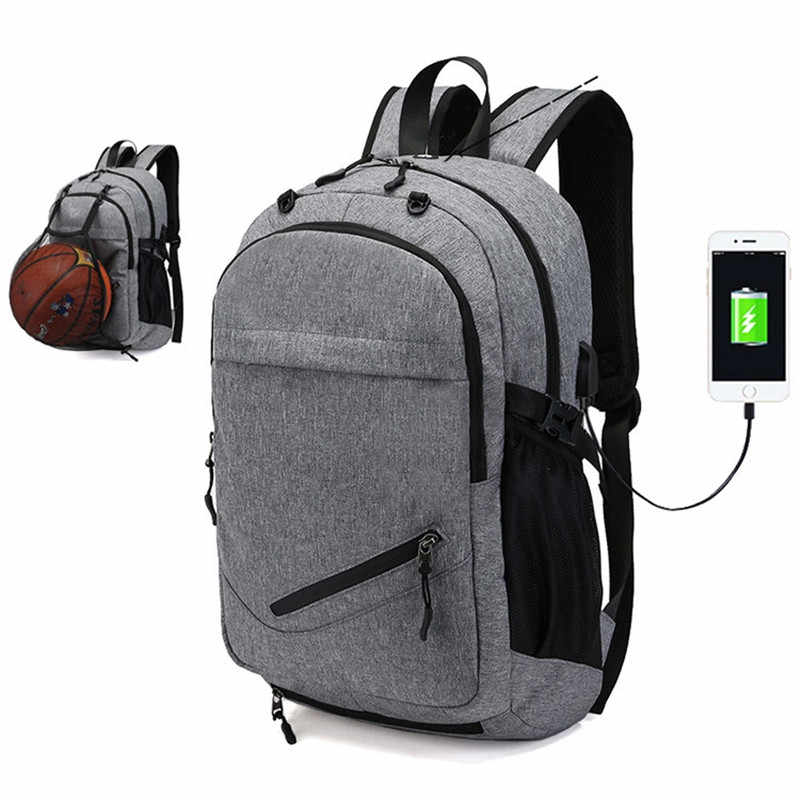 bd8c8d6e8287 Мужские спортивные сумки для спортзала баскетбольный рюкзак школьные сумки  для подростков мальчиков футбольные мячи сумка для