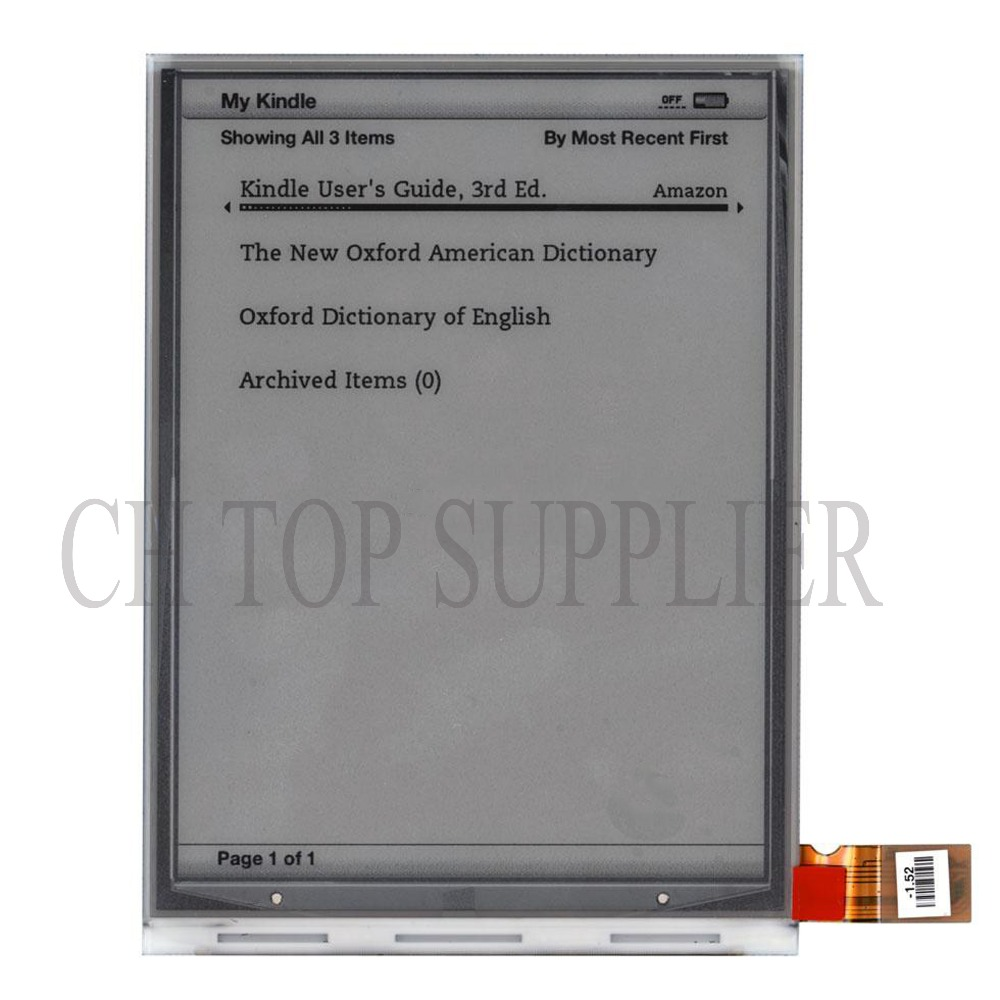 все цены на New Replacement LCD screen for Amazon kindle 3 / KINDLE KEYBOARD / KINDLE KEYBOARD 3G ED060SC7(LF) онлайн