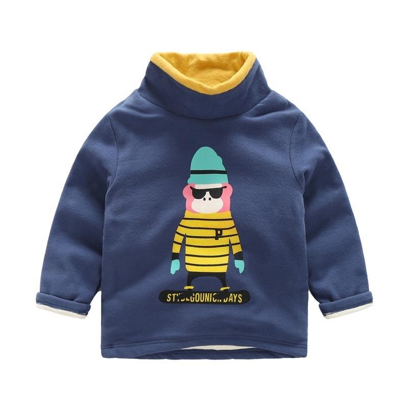 2017 Neue Winter Marke Kinder Baumwolle Dicke Fleece Sweatshirts Baby Jungen Mädchen Rollkragen Kaschmir Hoodies Kinder Wolle Warme T Hemd In Vielen Stilen