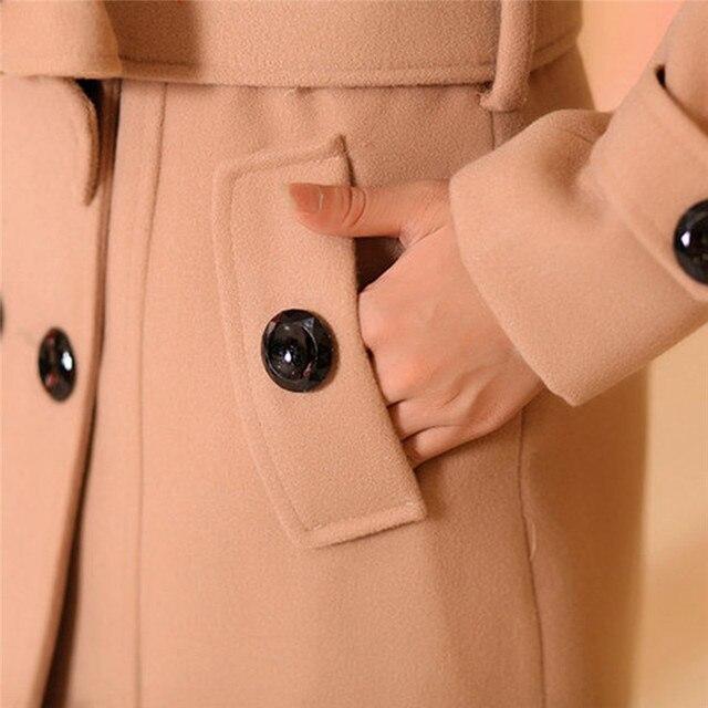 #Women Big Fur Collar #Jackets Winter Long Woolen Blend #Coats Outerwear Cotton Blend Jacket #fashion #boygrl 5