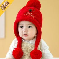 Children Hats Baby knitted hat scarf and glove set children new 2017 winter fashion kids christmas gift