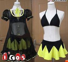 ¡ Nuevo! japanese anime cosplay costume set completo sexy fashion dress traje de baño bikini falda ropa de mujer