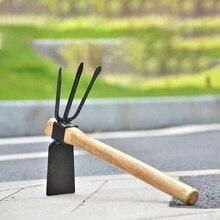 Копка с двумя головками Садоводство высадка экскаватор с деревянной ручкой портативный садовый ручной инструмент сталь горячий