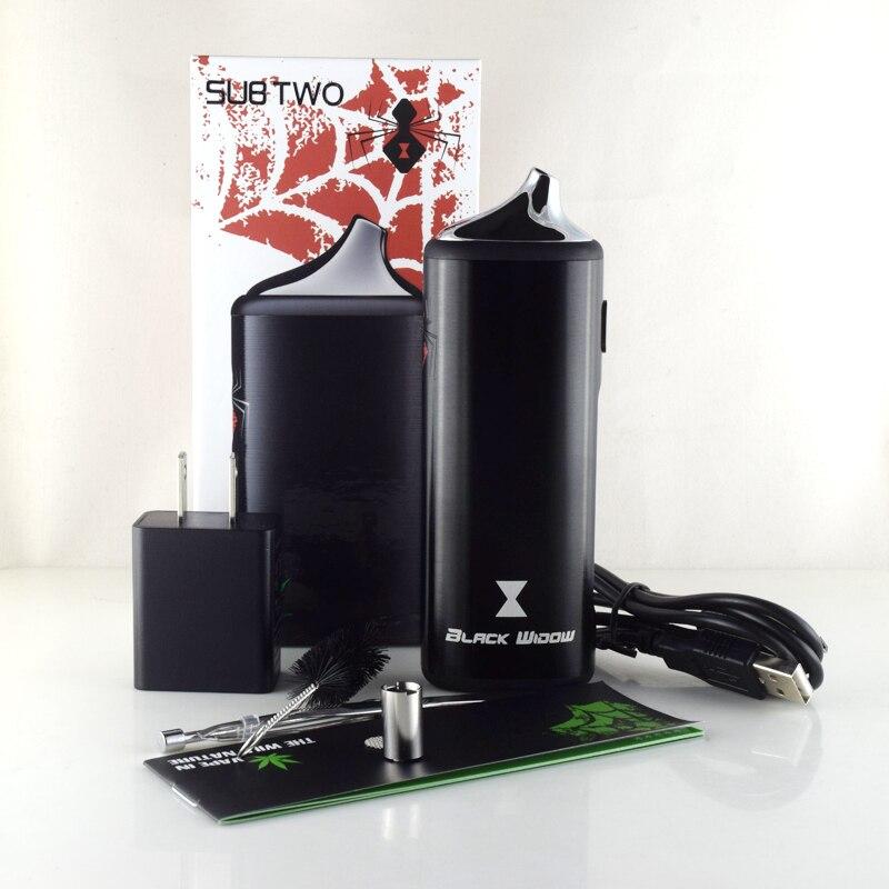 Kits originaux de vaporisateur d'herbe sèche de veuve noire de Kingtons 2200mah batterie de Vape 3 dans 1 Kit de fines herbes avec l'élément chauffant en céramique vape