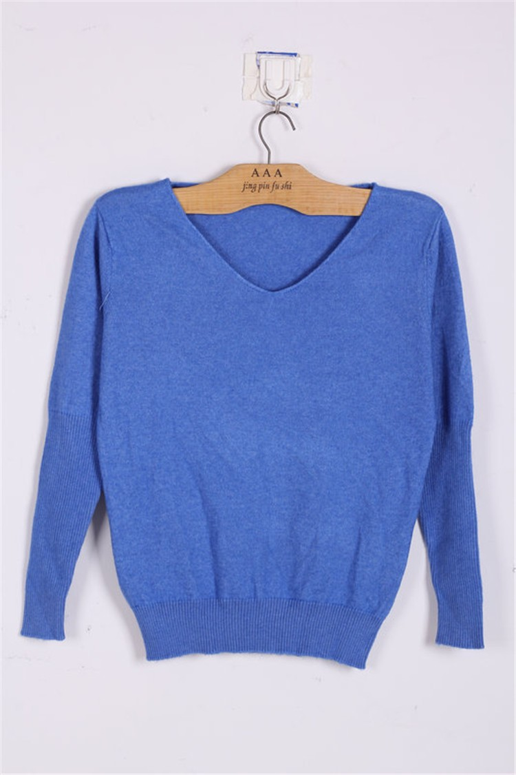 19 Spring autumn cashmere sweaters women fashion sexy v-neck sweater loose 100% wool sweater batwing sleeve plus size pullover 17