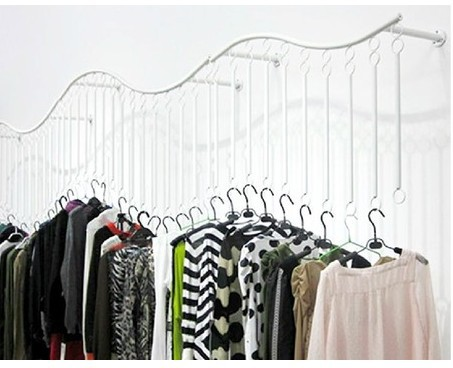 wrought iron clothes rack display shelf side shelf hanging clothes hanger wedding dress hanging