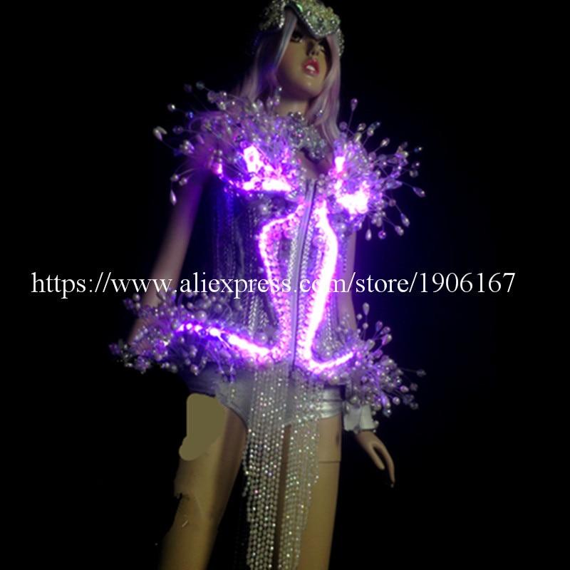 LED leuchtende Licht emittierende sexy Frauen Anzug Kleidung mit - Partyartikel und Dekoration - Foto 2