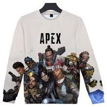 Hot 3D Apex Legends Sweatshirt Round Collar Fashion Pullover Cool Oversize Capless 2019 New Unisex O-neck