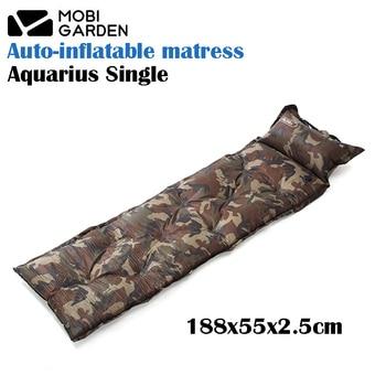 Mobi Garden Aquarius Single 188x55x2.5cm Rectangle Waterproof  Splice-able Auto-inflatable Cushion Mattress With Pillow