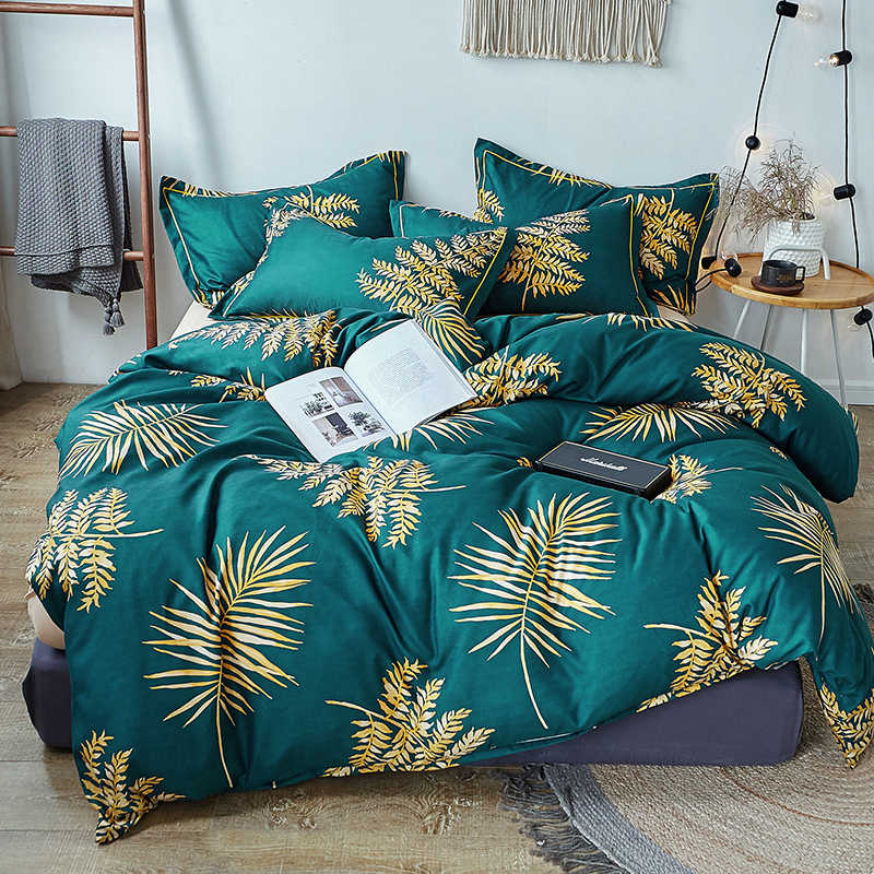 Green tree Bedding Sets 3/4pcs singel twin full queen king Bed Linings Duvet Cover Bed Sheet Pillowcases Cover Set