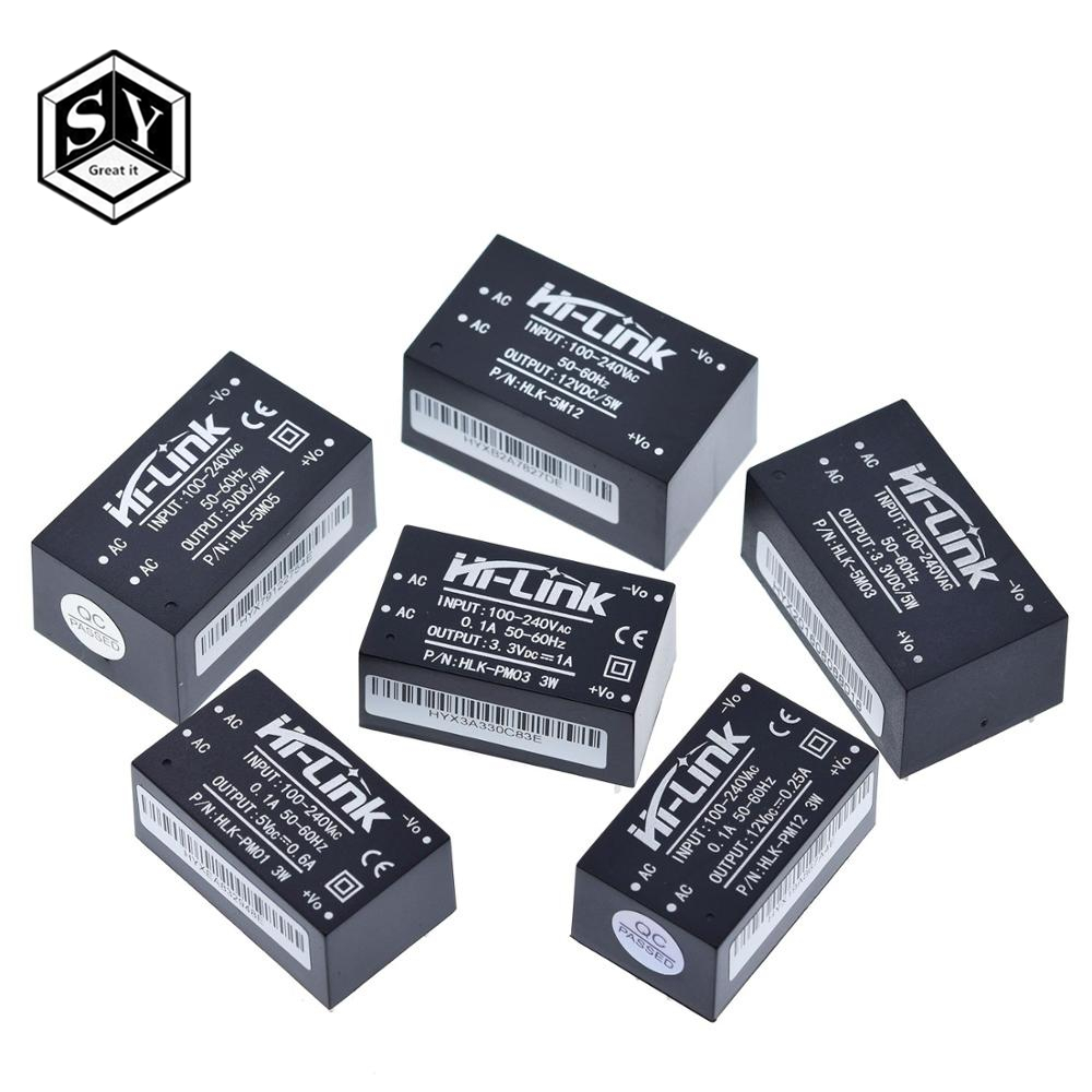 HLK-PM01 HLK-PM03 HLK-PM12 AC-DC 220V To 5V/3.3V/12V Mini Power Supply Module,intelligent Household Switch Power Supply Module