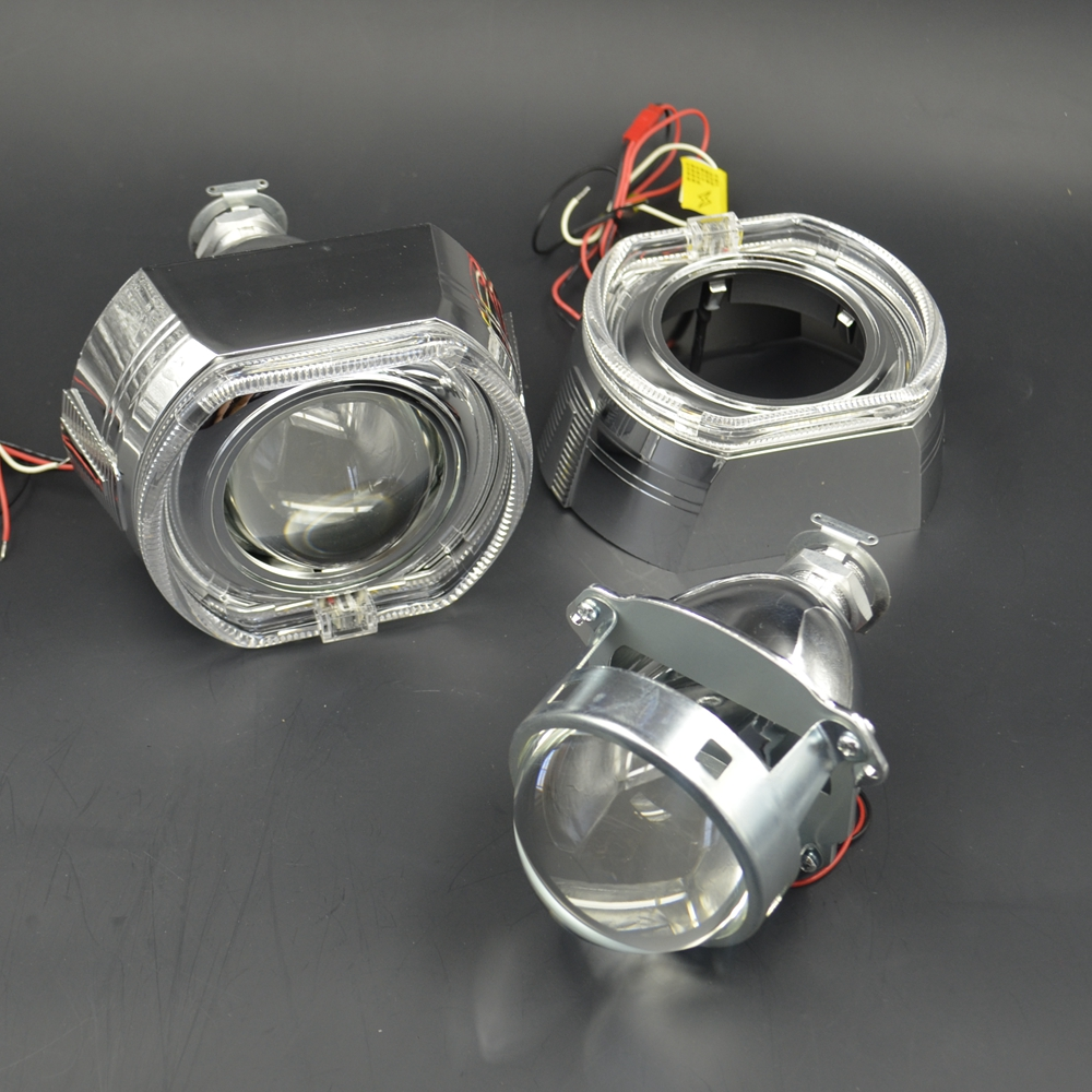 3.0 inch hid Projector lens led day running angel eyes car Bi xenon hid xenon kit metal H1 H4 H7 hid projector lens headlight
