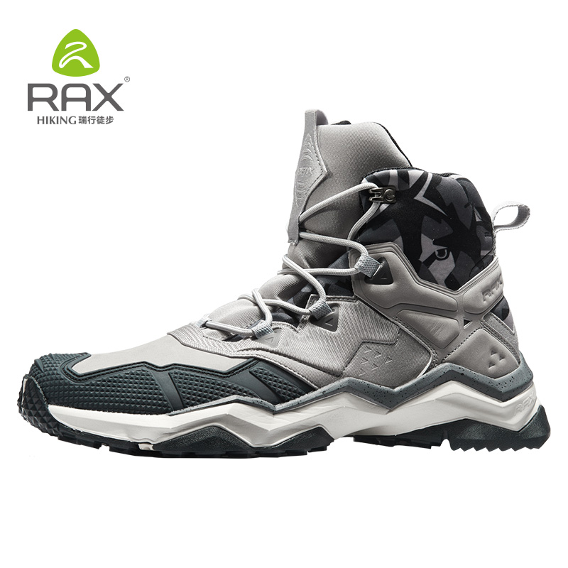 Rax Men Waterproof Hiking Boots Outdoor Professional Mountain Trekking Shoes Leather Tactical Boots for Men Light