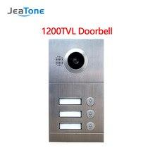 JeaTone Видео дверной телефон аналоговый дверной звонок ИК камера 1200TVL 3 кнопки вызова панель IP65 водонепроницаемая панель управления доступом к двери