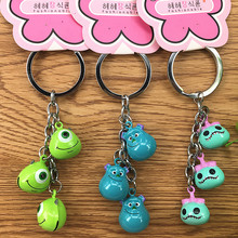 2019 New 4Styles Arrival Cartoon Lilo and Stitch Keychain LED Key Ring Sound Flash Rope Bell Backpack Pandent Gifts
