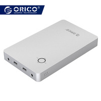 ORICO 28800mAh Notebook Power Bank Aluminum Alloy Dual USB Output One DC 12/16/19V Port for Lattop with 10pcs Connector
