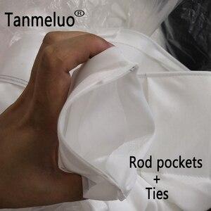 Image 2 - Свадебные Декорации занавески Вечерние Декорации под заказ для сцены Прозрачные шелковые драпированные украшения для сцены вечерние занавески