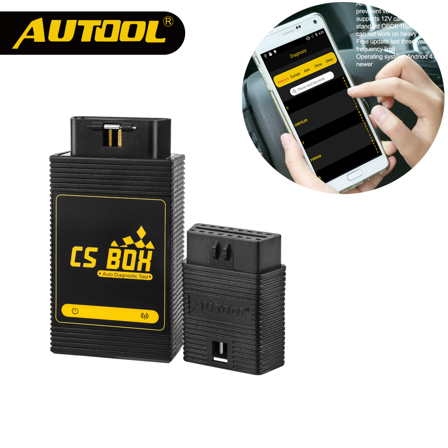 AUTOOL CS BOX OBDII Diagnostic Tool Multi System WiFi ETC Airbag ABS Key Coding For Android Tablet Brand Launch Easy Diag Mdiag оборудование для диагностики авто и мото by cds update multi di g j2534 multi diag v02 actia j2534 multi diag j2534 multi diag acess