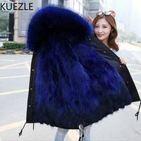 winter Lady warm fur coat 2018 new fashion hair liner jackets casual women Korean version of the same paragraph fur Windbreaker