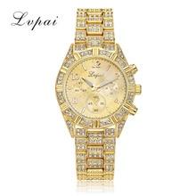 Lvpai marque genève bling cristal femmes fille unisexe quartz en acier inoxydable montre-bracelet femmes montres analogiques horloges montre