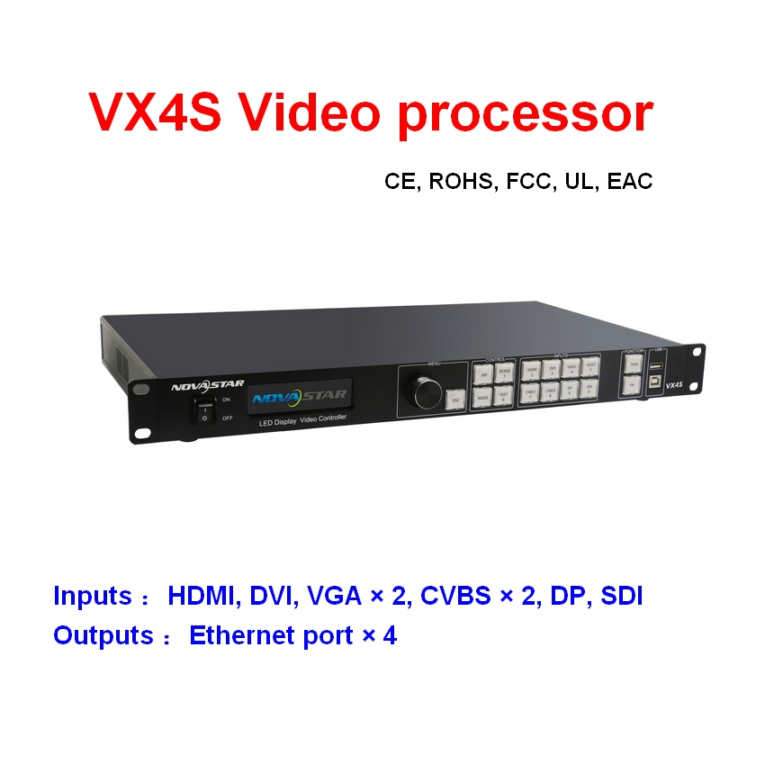 VX4S Novstar Led Video Processor Professional LED Display Controller For Rental LED Display