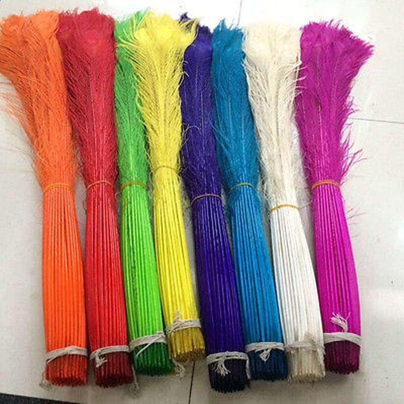 Wholesale 100 pcs Peacock Feather eyes 32 34inches 80 90cm color optional