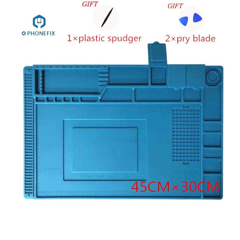 Platform Heat Insulation Silicone Pad Mobile Phone PC Computer Repair Hot Air Gun Station Mat BGA Soldering Repair Tool