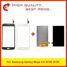 """Оригинальный 5,8 """"ЖК дисплей с сенсорным экраном для Samsung Galaxy Mega 5,8 I9150 i9152, Бесплатная доставка + код отслеживания"""