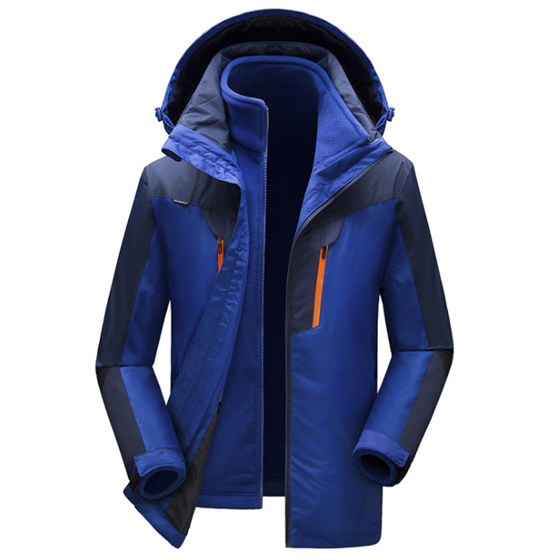 Winter Jackets Men Thick Warm Removable Fleece Lined Windbreaker Waterproof Jackets Mens ...