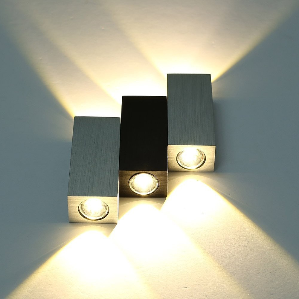 Aliexpress.com : Buy 2016 Fashion Wall Light Aluminum 6W White LED Bedroom  Wall Lamp Modern Up And Down Bathroom Washroom Corridor Mirror Lighting  From ...