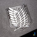 Attack On Titan   Wings Of Freedom Corps Investigation   3D StereoMetal Modified Car Personalized Car Stickers Metal   JSD-3230