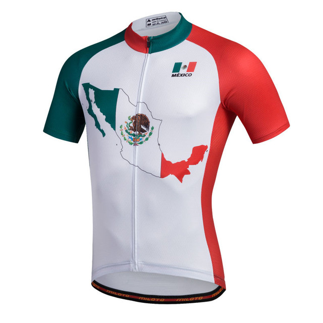 f1d8662a7 2017 Mexico white Cycling Jersey Men bike clothing bicycle top Ropa  Ciclismo maillot MTB jersey Racing Sport shirt Breathable