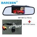 800*480 car rear reversing mirror monitor+4 led car parking camera adapt for  Mitsubishi Pajero Zinger L200 V3 V93 V5 V6 V8 V97