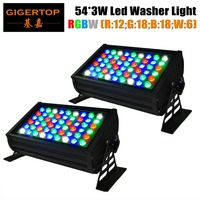 2pcs Lot Free Shipping Big Powerful 180W RGBW Color Mixing 54pcs 3W Led Wall Washer Light